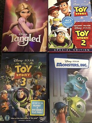 £5 • Buy Toy Story 1,2,3 Monsters Ink,and Tangled Disney DVD Bundle