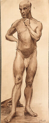 £110 • Buy Modern British 1940's - Male Nude - By Farrell - Duncan Grant Minton Style Era