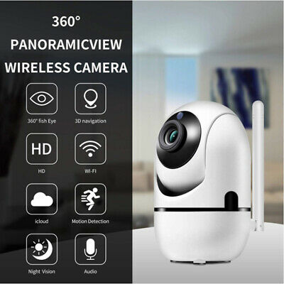 £18.99 • Buy 1080P Wireless WIFI IP Camera Two-way Audio Smart Night Vision Motion Detection