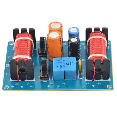 AU18.99 • Buy 2X(150W Speaker Treble Alto Bass Audio Frequency Divider 3 Way Crossover Fil5F5)