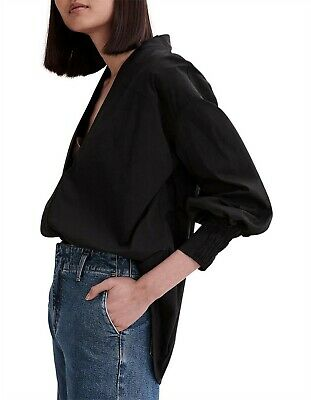 AU69 • Buy COUNTRY ROAD Beautiful Black Blouse Shirt Size 16 RRP $159.9