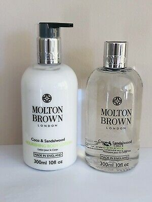 £24.95 • Buy Molton Brown Coco And Sandalwood Body Lotion And Body Wash Set 300ml Brand New!