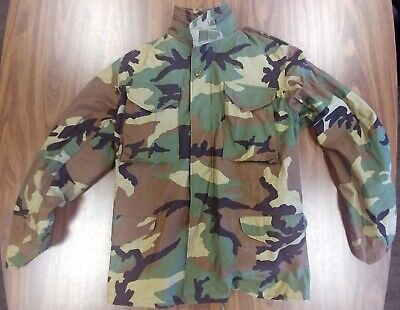 $14.99 • Buy US Military Army Cold Weather Camo Field Jacket Mens Small Reg 8415-01-099-7831