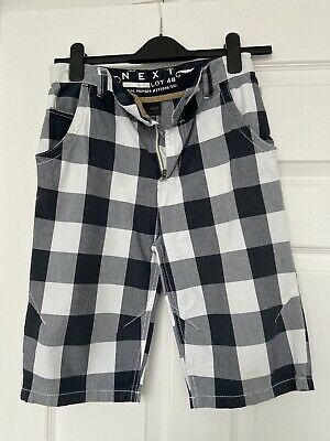 £0.99 • Buy Next Boys Blue Checked Shorts Age 11 Years (146cm)