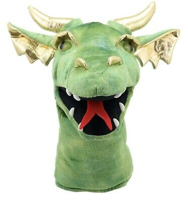 £21 • Buy The Puppet Company GREEN  DRAGON HEAD Hand Puppet New With Tags UK