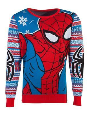 £65 • Buy Marvel Knitted Christmas Sweater Spider-Man Difuzed