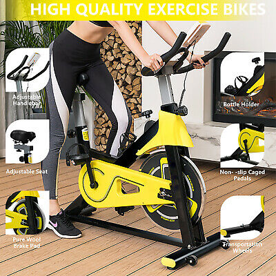 £109.99 • Buy Exercise Indoor Bike Cycling Spin Workout Bike Bicycle Home Fitness  Cardio