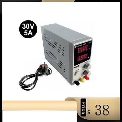 £44.59 • Buy Adjustable Power Supply 30v 5a Switching Dc Digital Led Precision Lab Variable