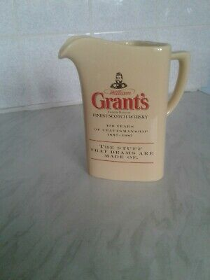 £11 • Buy William Grant Whisky Water Jug 7  Cream No Chips/cracks By Corfield&Waller