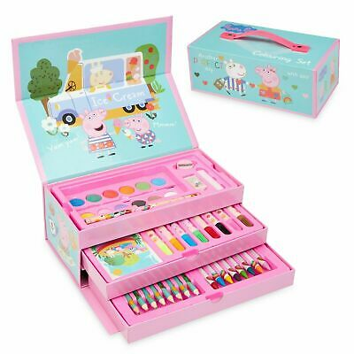 £12.99 • Buy Peppa Pig Art Set, Arts And Crafts For Kids, Colouring Sets For Children