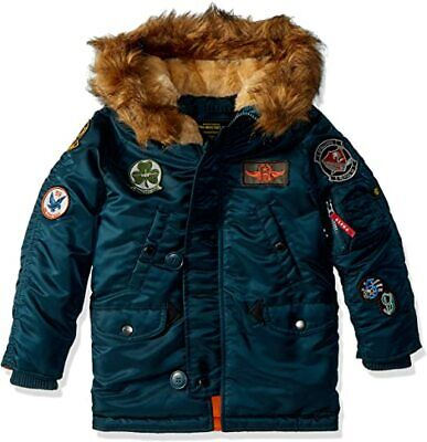 $ CDN68.12 • Buy Alpha Industries N-3B Extreme Cold Weather Boys Youth Winter Parka, Size YL14/16