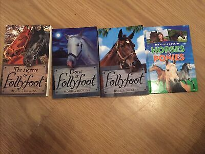 £9.99 • Buy MONICA DICKENS FOLLYFOOT & The Little Book Of Horses And Ponies Books Bundle X 4