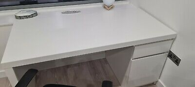 £25 • Buy IKEA White Malm Desk With Or Without Black Desk Spinning Chair
