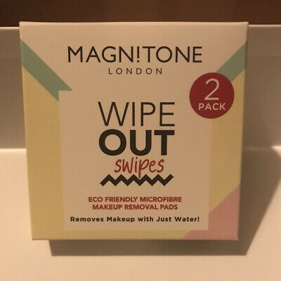 £5.99 • Buy Magnitone WipeOut Reusable MicroFibre Makeup Removal Facial Cleansing Cloths X 2
