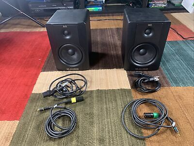 $100 • Buy Pair M-Audio BX5 D2 Studio Monitor Speakers!  Come With RCA To XLR Cables