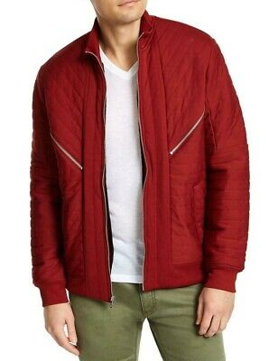 £0.72 • Buy INC Mens Jacket Deep Red Size XL Quilted Faux-Fur Knit Lined Bomber $99 249