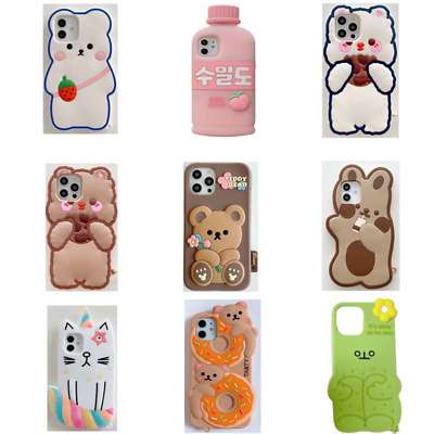 AU5.33 • Buy Cute 3D Cartoon Silicone Kids Cover Case For IPhone 8 7 6 Plus XR 12 11 Pro MAX