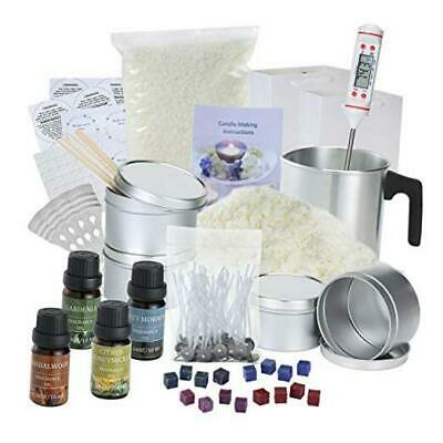 £44.79 • Buy DIY Candle Making Kit Supplies Full Beginners Set - Soy Wax, Dyes, Scents,