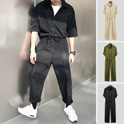 $23.87 • Buy Men's Fashion Cargo Dungarees Romper Jumpsuit Pants Casual Loose Overalls Pants