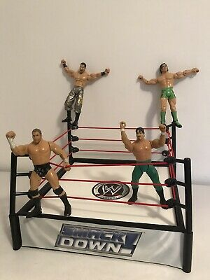 £19.99 • Buy Wwe Wrestling Ring Snack Down Raw Wrestlers Action Figures Bundle Job Lot Toys
