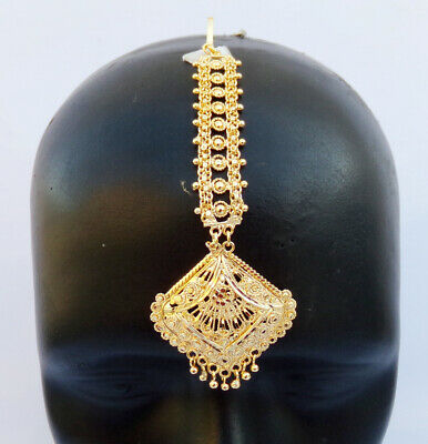$12.50 • Buy Indian Ethnic Party Wear Bollywood 22k Gold Plated Mang Tikka Fashion Jewelry