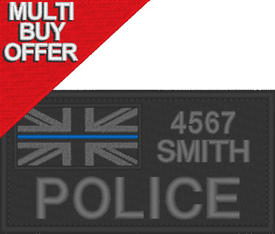 £7.99 • Buy Peronalised Id Patch Police Identifier, Name Patch, Embroidered Patch,