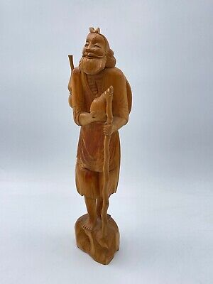 £89 • Buy Antique Chinese Root Wood Hand Carving Figure 32 Cm