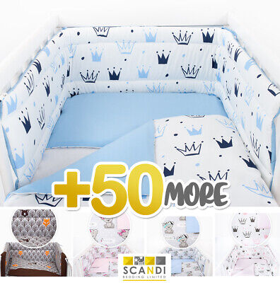 £22.99 • Buy PRINCESS/ PRINCE  BABY BEDDING SET Fit COT 120x60cm OR COT BED 140x70cm + More