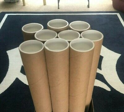 $10 • Buy 9 - 2  X 24  HD Kraft Cardboard Mailing / Shipping Tubes With White End Caps