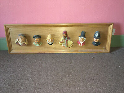 £27 • Buy Bossons Head Plaques On Wooden Frame • Unusual Display