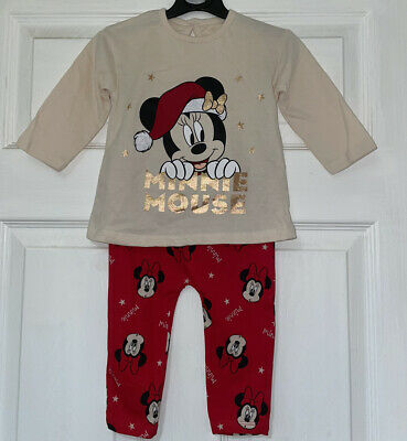 £2 • Buy George Baby Girls Minnie Mouse Christmas Outfit Age 6-9 Months