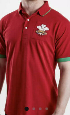 £10.75 • Buy Wales 2019/20 Vintage Short Sleeve Rugby Polo Shirt Size Is Small