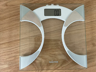 £4 • Buy Salter 9141 Wh3r Glass Body Fat Analyser Bathroom Scale