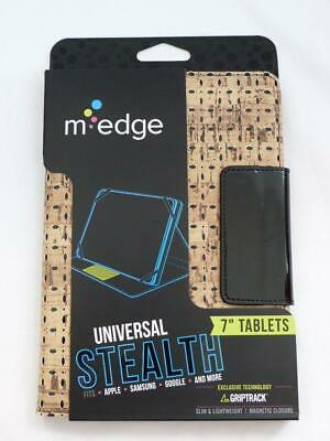 $4.99 • Buy NEW M-EDGE Universal Stealth Keyboard Folio For 7  Tablets, Cork-Pattern Finish