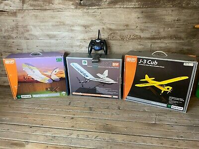 £36.94 • Buy LOT OF 3 Parkzone RTF RC Airplanes! Night Vapor Ember 2 And J3 Cub With REMOTE !