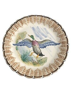 £14.34 • Buy Hand Painted Italian Pottery Flying Duck  Decorative Wall Plate
