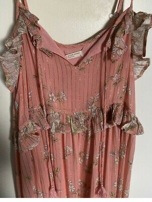 AU200 • Buy Spell And The Gypsy Hendrix Strappy Maxi Dress Dusty Pink Size M BNWT