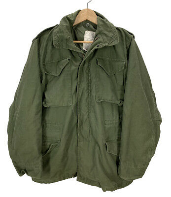$59.99 • Buy Vintage 70's US Military M65 Olive Green Field Jacket Small Army Marines EUC
