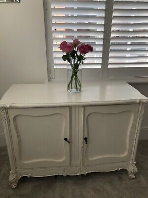 £100 • Buy White Distressed French Style Sideboard Pre-owned