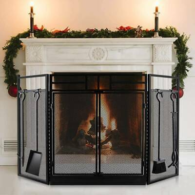 £82.23 • Buy Fire Guard Freestanding Panel Spark Fireplace Screen Protector Safety Cover UK