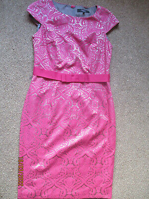 AU16.59 • Buy Gorgeous Pink And Silver Brocade Special Occasion Dress, Size 12, Next, VGC