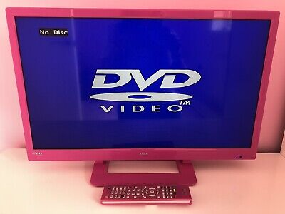 £30 • Buy Alba 24 Inch Pink HD LED TV With In-built DVD Player & Remote