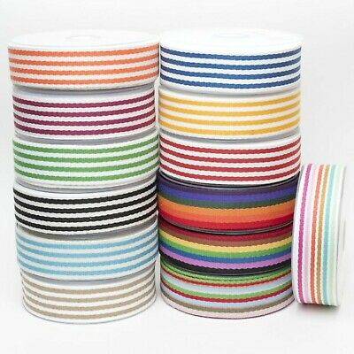 £3.45 • Buy Cotton Striped Webbing Bag Making Strap Lead Belts 38mm Soft Touch Multi-Colour