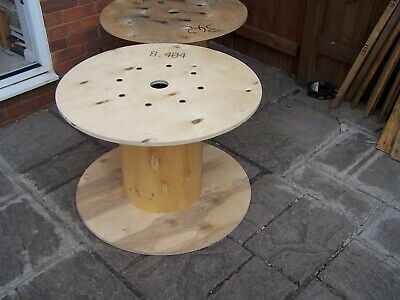 £25 • Buy 80 X 55 Cm Large Ply Wooden Cable Reel Retro Garden Coffee Table Wr4 Collect