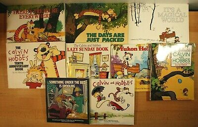 £36.21 • Buy CALVIN AND HOBBES COMIC BOOKS By Bill Watterson! Lot Of 9 Large Paperbacks