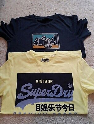 £12.95 • Buy Boy's Superdry / Animal T-shirts Size 13-14 Yrs Small