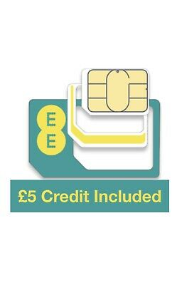 £3.29 • Buy EE Pay As You Go Trio Sim Card, Preloaded With £5 Credit, Does Not Expire