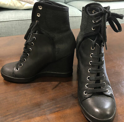 £29.99 • Buy See By Chloe Leather& Nubuck Wedge Boots Size36