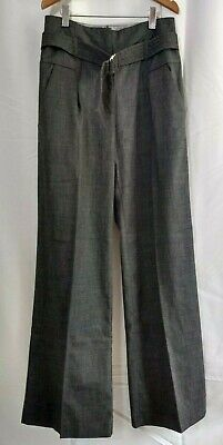 £4.99 • Buy Size 8, Grey TAILORED Suit TROUSERS, (small Repair Needed To Pocket)