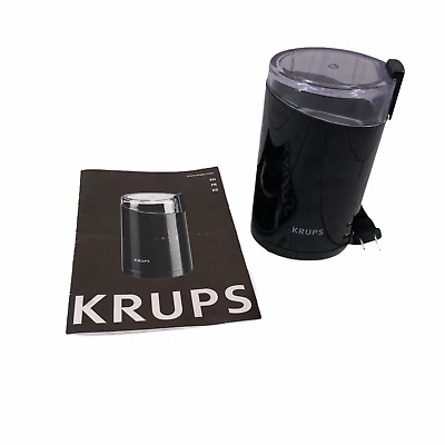 £12.31 • Buy KRUPS Electric Spice And Coffee Grinder Black With Stainless Steel Blades F203